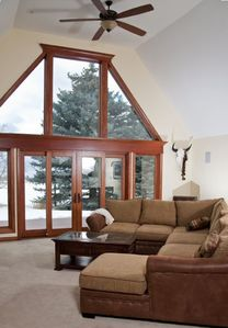 Enjoy beautiful scenic views out the large picture windows.