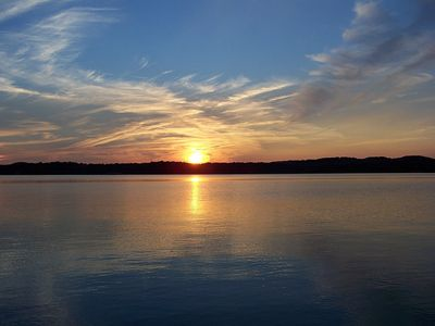 Table Rock Lake At Sunset