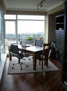 office area with large table and printer..amazing views