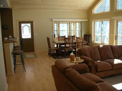 Great Room and Cedar Sun Porch