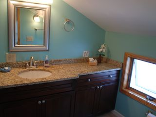 Master Bath with large vanity and large walk in shower - Alexandria Bay cottage vacation rental photo