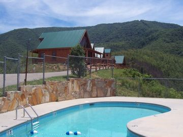 Swimming Pool just steps from cabin - Eagles View is the 2nd cabin