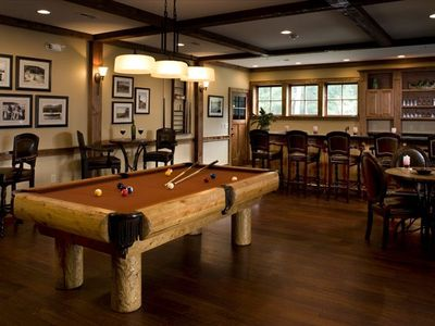 You'll enjoy the pool table in the Lodge