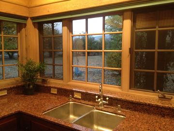 Mountain View and Granite Counter top.
