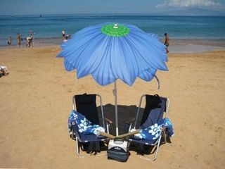 Wailea condo photo - We supply your beach accessories - chairs, towels, umbrella and cooler