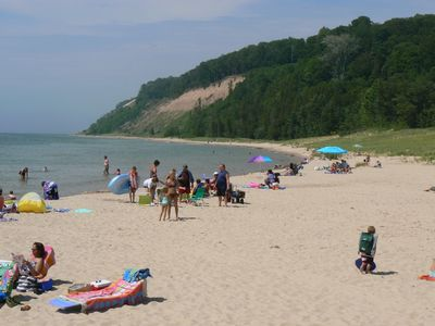 Lake Michigan Beach in Frankfort, just 20 minutes away