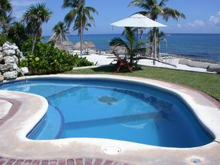 Puerto Aventuras villa photo - 2 Oceanfront Pools with Waterfalls