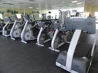 View the Gulf While Using The On Site Fitness Center