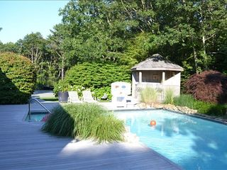 Quogue house photo - Pool and Tennis Court in the backround