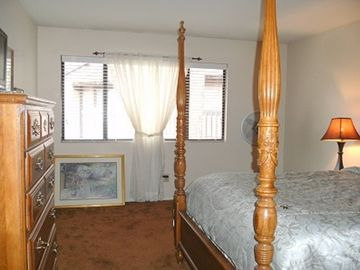 Pinetop condo rental - 400 square foot master suite, with huge bathroom and private entry.
