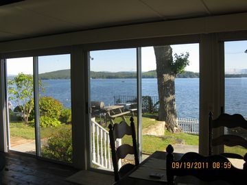 Excellent view of lake from Dining/living room. This room has a full sleep sofa