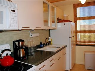 Waikiki condo photo - Fully equipped kitchen with view of Diamond Head
