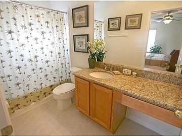 Upstairs King Master Bathroom with Granite Counter tops