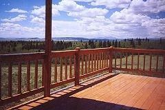 View from lower deck - Jefferson cabin vacation rental photo