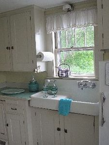 1920's Farm house sink overlooking the Harbor