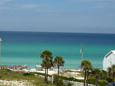 Inlet Beach townhome rental - Just Palm Trees between us an the water!