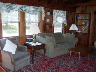 West Dennis house photo - One of two living rooms.