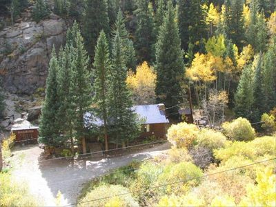 Nestled in a beautiful canyon amid tall pines and aspen on a rushing creek.