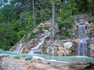 Pigeon Forge cabin photo - Waterfall next to community pool