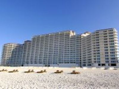 View of the complex from the beach
