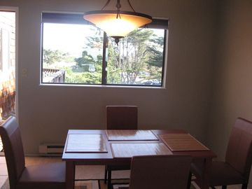 Dining room with front view of the condo