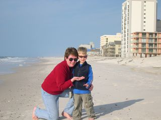 Gulf Shores condo photo - Grandma and Austin Shelling