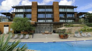 Lago Vista condo photo - Luxury Condo overlooking Sparkling Swimming Pool, Hot Tub, and Lake Travis