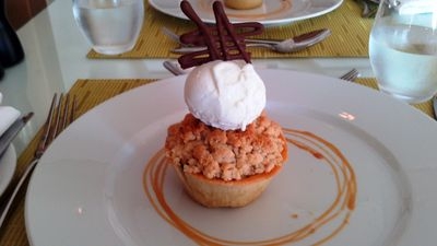 Salalah Beach: Dessert in the restaurant Al Fanar