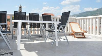 Split house rental - Large Roof Terrace with Table, 6 Chairs, Deckchair, Sun Loungers,Large Barbecue