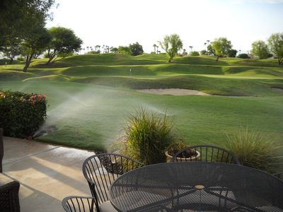 View of 15th hole from back patio.