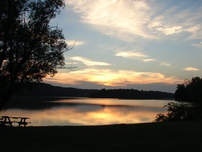 Sunset at Lake Logan in Hocking Hills