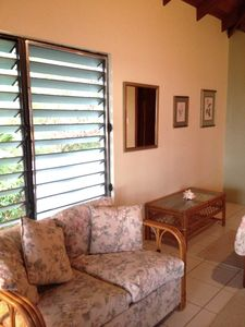Montserrat villa rental - Sitting area in the upper bedroom.