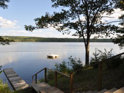 Peaceful, Private Cottage on Lovejoy Pond, near Unity, with A/C, WiFi, kayak