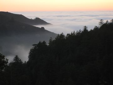 Big Sur cabin rental - from the deck