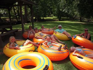 Ellijay cabin photo - The Grand Kids Are Ready To Go Tubing!