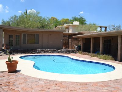 Saltwater pool and detached Casita