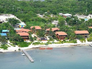 Ambergris Caye villa photo - Arial view of Caye Villas - Coral Caye Villa is the villa in the middle