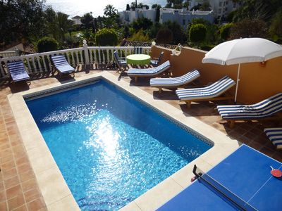 Beautiful Andalusian style villa with 4 bedrooms 4 bath private pool & sea views