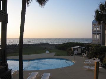 Fripp Island villa rental - Ocean and pool view from villa
