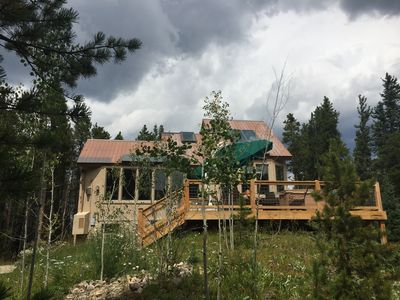 Your secluded luxury home on 6 acres surrounded by mountains and trees.