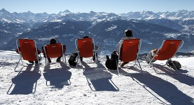 Rest while admiring the Alps! From the Matterhorn to the Mont Blanc...