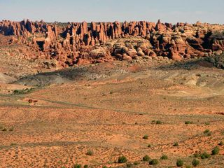 Moab condo photo - Looking at Fiery Furnace. A must do! You need to make a reservation.
