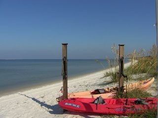 Port St. Joe house photo - Kayaks await for your glide across tranquil St. Joe Bay...Available for rent.