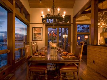 Dinning area with amazing views