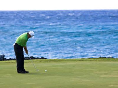 Many championship golf coursed in West Hawaii