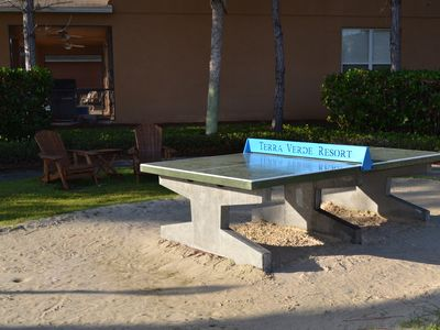 Table Tennis area next to resort club house.