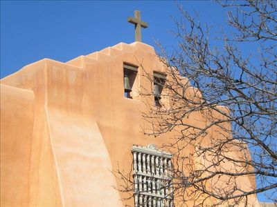 Beautiful traditional Santa Fe architecture