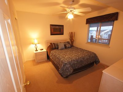 Osage Beach condo rental - The 2nd Bedroom offers a comfortable Queen Sized Bed and Ceiling Fan