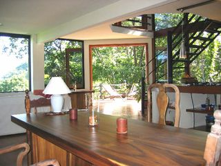 Manuel Antonio villa photo - Hardwood table in Lounge