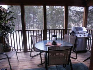 Branson lodge photo - Enjoy sitting on your back porch and listening to Roark Creek